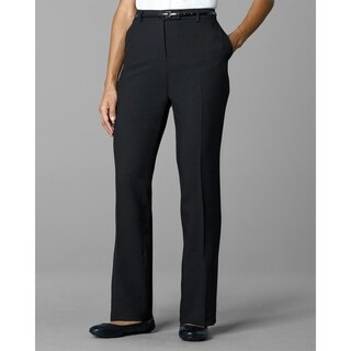 Twin Hill Womens Pant Black Poly Flat Front (Option: 2)