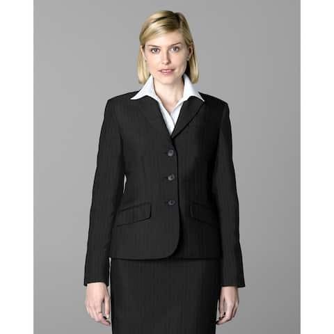 Twin Hill Womens Jacket Grey Pinstripe Performance 3-button