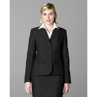 Twin Hill Womens Jacket Chocolate Poly 3-button