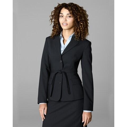 Twin Hill Womens Jacket Black Performance Wrap Around