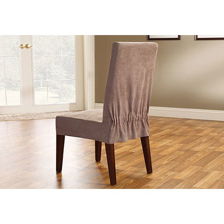 Shop Sure Fit Soft Suede Short Dining Room Chair Slipcover