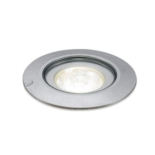 Bruck Lighting Ledra 12C (3000K) LED Matte Chrome 45-degree Lens Recessed In Ground Light