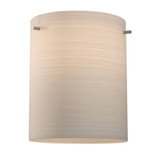 Bruck Lighting Regal CFL Matte Chrome Ceiling Mount with White Textured Glass Shade