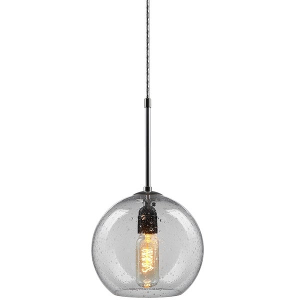 Bruck Lighting Bobo 3 Chrome Pendant with Clear Hand Made Glass Shade