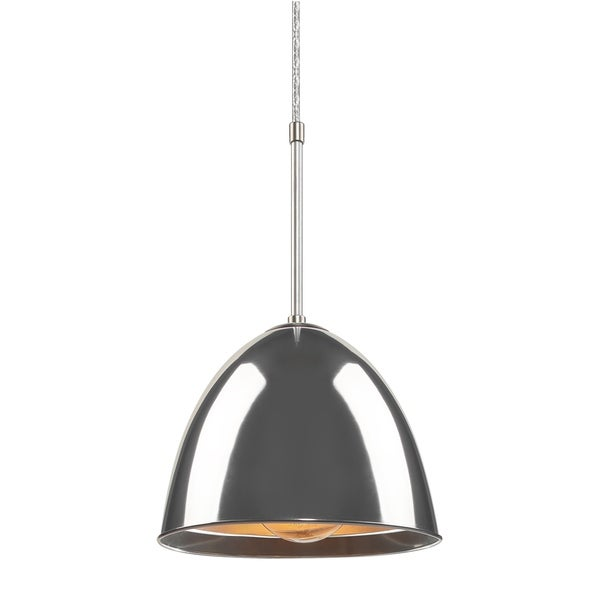Bruck Lighting Classic Matte Chrome Pendant with Aluminum Aluminum Shade