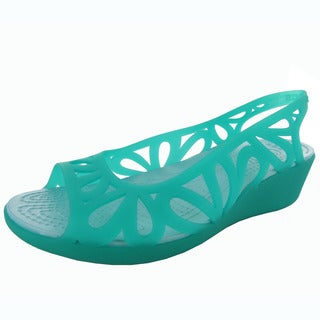 Crocs Womens Adrina III Mini Wedge Sandals