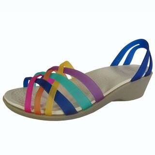 Crocs Womens Huarache Mini Wedge Sandals
