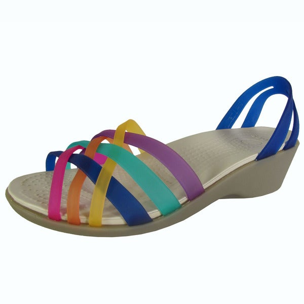 Crocs Womens Huarache Mini Wedge Sandals