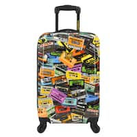 Loudmouth Party Mix 22-inch Expandable Hardside Carry-On Spinner Suitcase