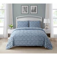 Wonder Home Caesare 3-piece Cotton Texture Quilt Set