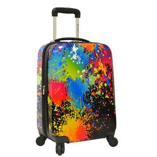 Traveler's Choice Paint Splatter 21-inch Hardside Carry-On Spinner Suitcase