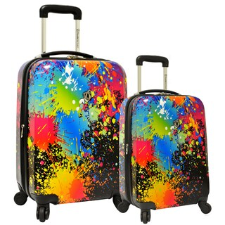Traveler's Choice Paint Splatter 2-Piece Hardside Expandable Luggage Set