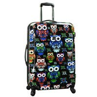 Traveler's Choice Colorful Owl 29-inch Hardside Expandable Spinner Suitcase