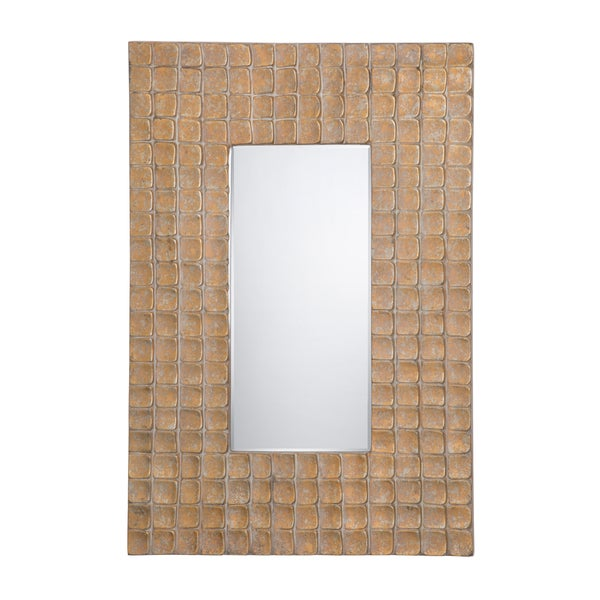 "Champagne Gold/Silver Accent Mirror - 1.5"" D x 24"" W x 35"" H"