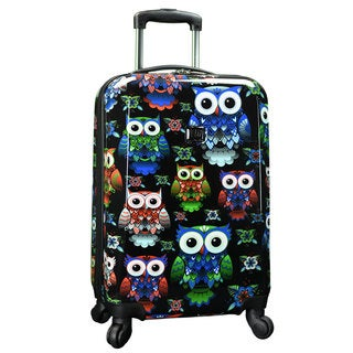 Traveler's Choice Colorful Owl 22-inch Hardside Carry-On Spinner Suitcase