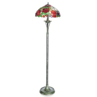 "64"" Tiffany Style Rose Floor Lamp"