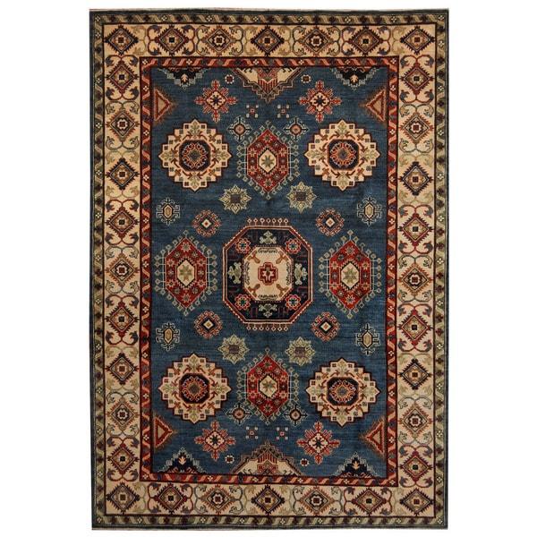 Handmade Herat Oriental Afghan Tribal Kazak Wool Rug (Afghanistan) - 6'8 x 9'7
