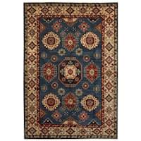 Handmade Herat Oriental Afghan Tribal Kazak Wool Rug  - 6'8 x 9'7 (Afghanistan)