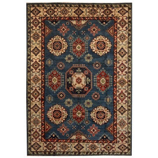 Herat Oriental Afghan Hand-knotted Tribal Kazak Wool Rug (6'8 x 9'7) - 6'8 x 9'7