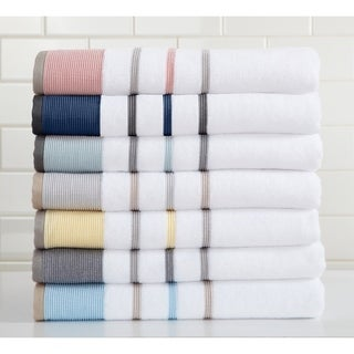 Noelle Collection 6-Piece Turkish Cotton Striped Towel Set