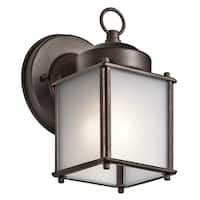 Kichler Lighting Traditional 1-light Tannery Bronze Outdoor Wall Sconce
