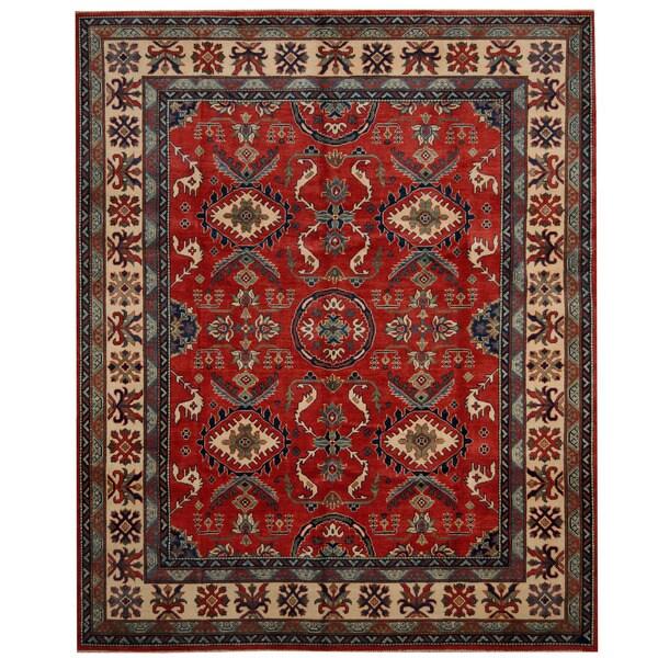 Herat Oriental Afghan Hand-knotted Tribal Kazak Wool Rug (8' x 9'10)