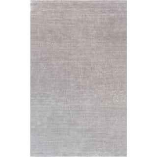 Pasargad Transitiona Hand-Loomed Silver Bamboo Silk Area Rug (5' X 8')