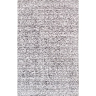 Texture Silver/Grey Transitiona Hand-Loomed Polyester & cotton Rug (5' X 8')