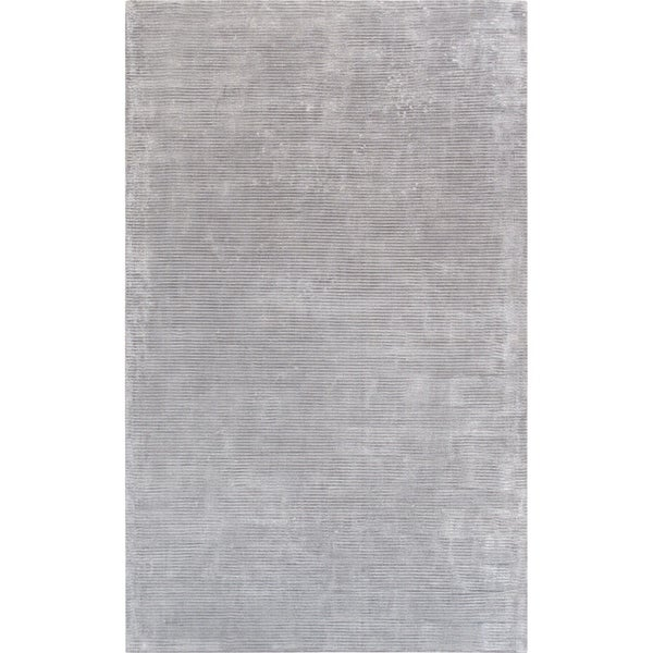 Texture Grey Transitiona Hand-Loomed Bamboo Silk Area Rug (5' X 8')