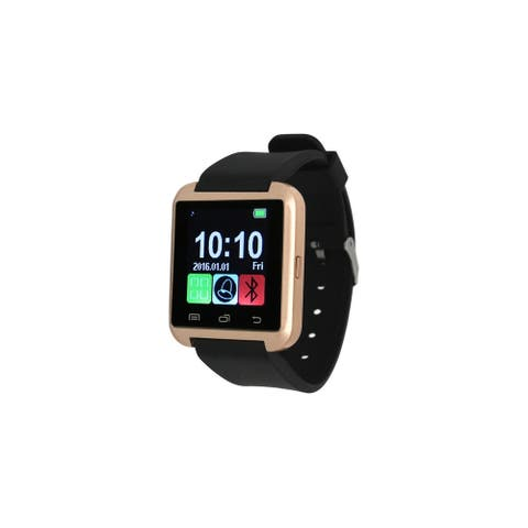 Olivia Pratt Silicone Smart Watch - Black