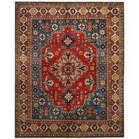 Handmade Herat Oriental Afghan Tribal Kazak Wool Rug (Afghanistan) - 8'2 x 10'2