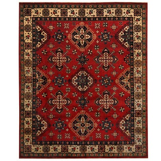 Herat Oriental Afghan Hand-knotted Tribal Kazak Wool Rug (8' x 9'9)