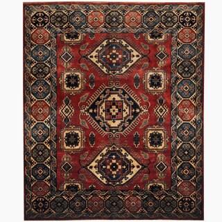 Herat Oriental Afghan Hand-knotted Tribal Kazak Wool Rug (8' x 9'8)