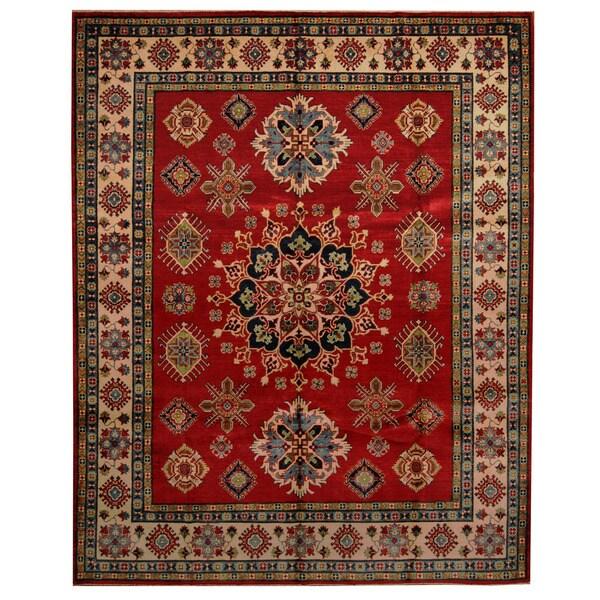 Handmade Kazak Wool Rug (Afghanistan) - 8'2 x 9'11