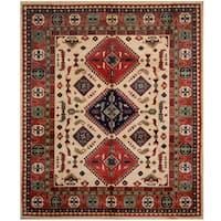Handmade Herat Oriental Afghan Tribal Kazak Wool Rug  - 8'5 x 9'10 (Afghanistan)