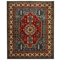 Herat Oriental Afghan Hand-knotted Tribal Kazak Wool Rug - 8'2 x 9'8