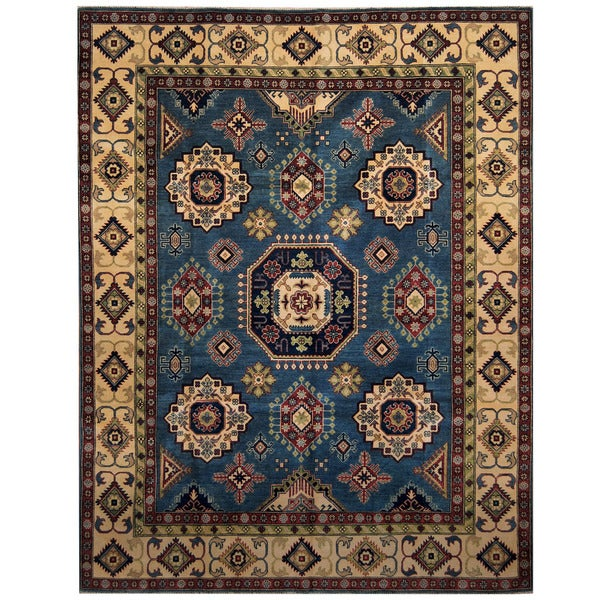 Handmade Herat Oriental Afghan Tribal Kazak Wool Rug (Afghanistan) - 8' x 10'1