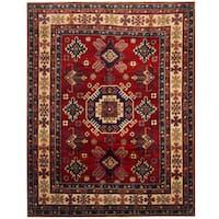 Herat Oriental Afghan Hand-knotted Tribal Kazak Wool Rug (7'10 x 10') - 7'10 x 10'