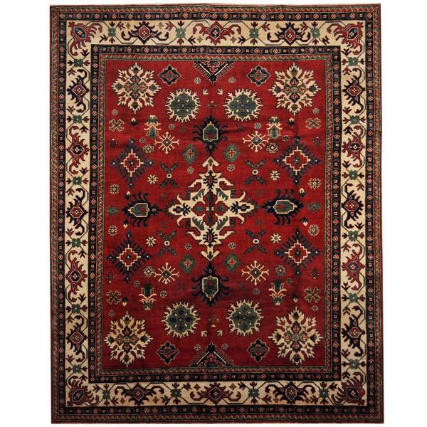 Handmade Herat Oriental Afghan Tribal Kazak Wool Rug (Afghanistan) - 8' x 10'3