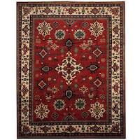 Herat Oriental Afghan Hand-knotted Tribal Kazak Wool Rug (8' x 10'3) - 8' x 10'3