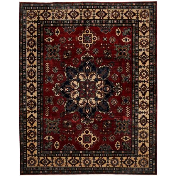 Handmade Kazak Wool Rug (Afghanistan) - 8' x 10'