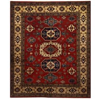 Handmade Herat Oriental Afghan Tribal Kazak Wool Rug (Afghanistan) - 8'2 x 9'8