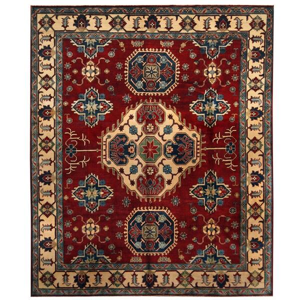 Handmade Herat Oriental Afghan Tribal Kazak Wool Rug (Afghanistan) - 8'5 x 10'1
