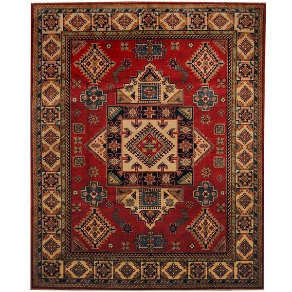Herat Oriental Afghan Hand-knotted Tribal Kazak Wool Rug (8'2 x 10'1)