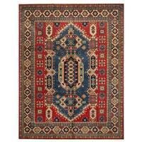 Herat Oriental Afghan Hand-knotted Tribal Kazak Wool Rug (8'2 x 10'6)