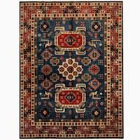 Handmade Herat Oriental Afghan Tribal Kazak Wool Rug  - 8'1 x 10'9 (Afghanistan)