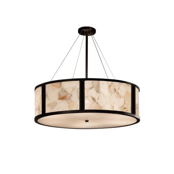 Justice Design Group Alabaster Rocks Tribeca 8-light Matte Black Pendant