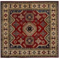 Herat Oriental Afghan Hand-knotted Tribal Kazak Wool Rug (8'1 x 8')