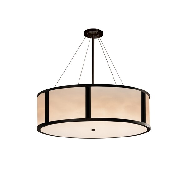 Justice Design Group Clouds Tribeca 8-light Matte Black Pendant