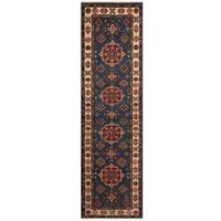 Handmade Herat Oriental Afghan Tribal Kazak Wool Runner (Afghanistan) - 2'8 x 9'9